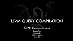 [PRESENTATION] LLVM Compilation for Updates