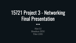 [PRESENTATION] Networking Layer Enhancements