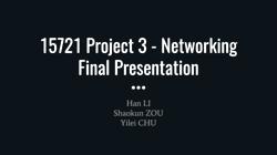 [PRESENTATION] Networking Layer Enhancements