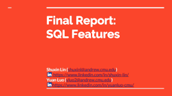 [PRESENTATION] SQL Features