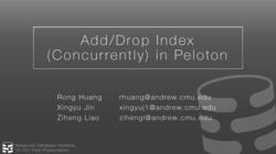 [PRESENTATION] Add/Drop Index