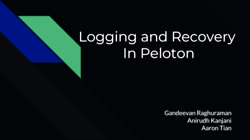 [PRESENTATION] Logging and Recovery