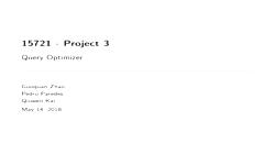 [PRESENTATION] Query Optimizer & Rewriting